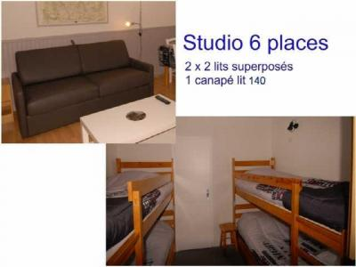 Location au ski Studio 6 personnes (ISA72) - Residence Isards - Gourette - Coin nuit