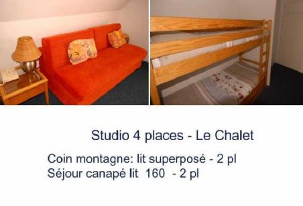Location au ski Studio 4 personnes (18) - Residence Le Chalet - Gourette