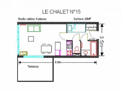 Location au ski Studio 4 personnes (15) - Residence Le Chalet - Gourette