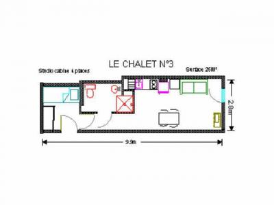 Location au ski Studio 4 personnes (3) - Residence Le Chalet - Gourette