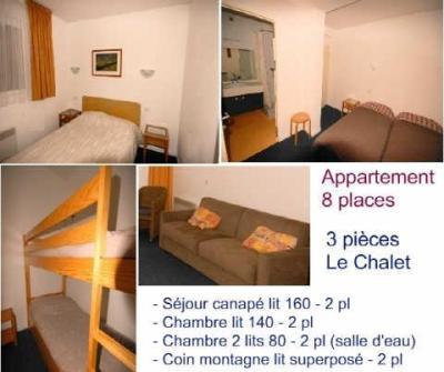 Location au ski Appartement 3 pièces 8 personnes (10) - Residence Le Chalet - Gourette - Couchage
