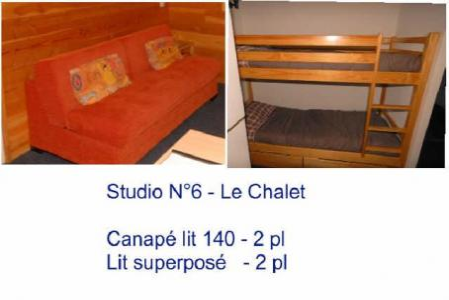 Location au ski Studio 4 personnes (6) - Residence Le Chalet - Gourette - Couchage