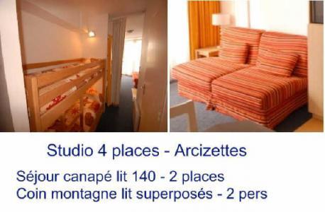 Location au ski Studio 4 personnes (ARC39) - Résidence les Arcizettes - Gourette - Plan