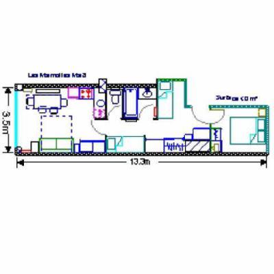 Location au ski Studio cabine 8 personnes (MAR8) - Residence Les Marmottes - Gourette - Plan
