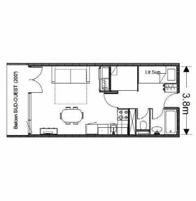 Location au ski Studio 6 personnes (SAN49) - Residence Sanctus - Gourette - Plan