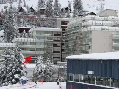 Location au ski Studio 6 personnes (SAN49) - Residence Sanctus - Gourette - Extérieur hiver