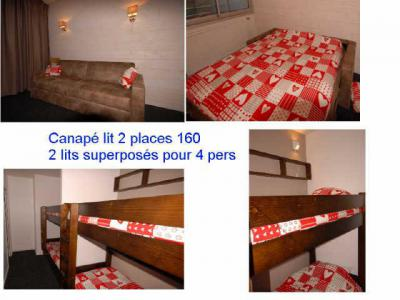 Location au ski Studio 6 personnes (SAN100) - Residence Sanctus - Gourette - Couchage