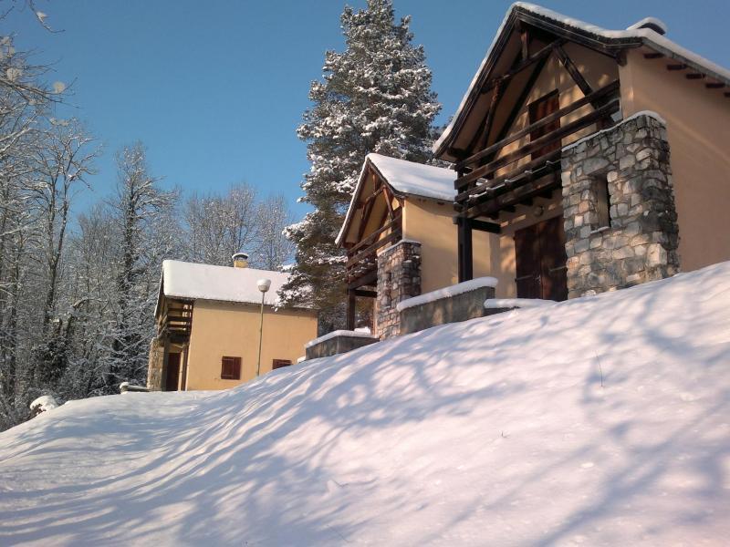 Location au ski Résidence le Village la Souleille des Lannes - Guzet - Extérieur hiver