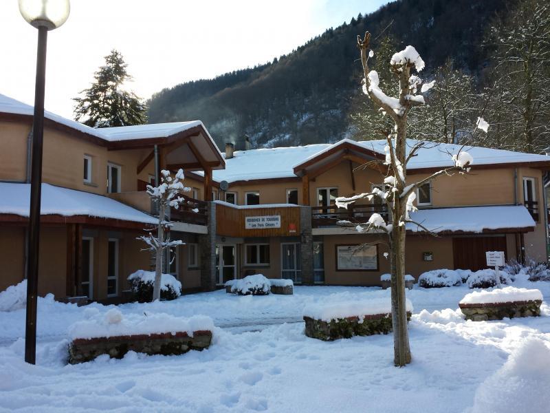 Urlaub in den Bergen Résidence les 3 Césars - Guzet - Draußen im Winter