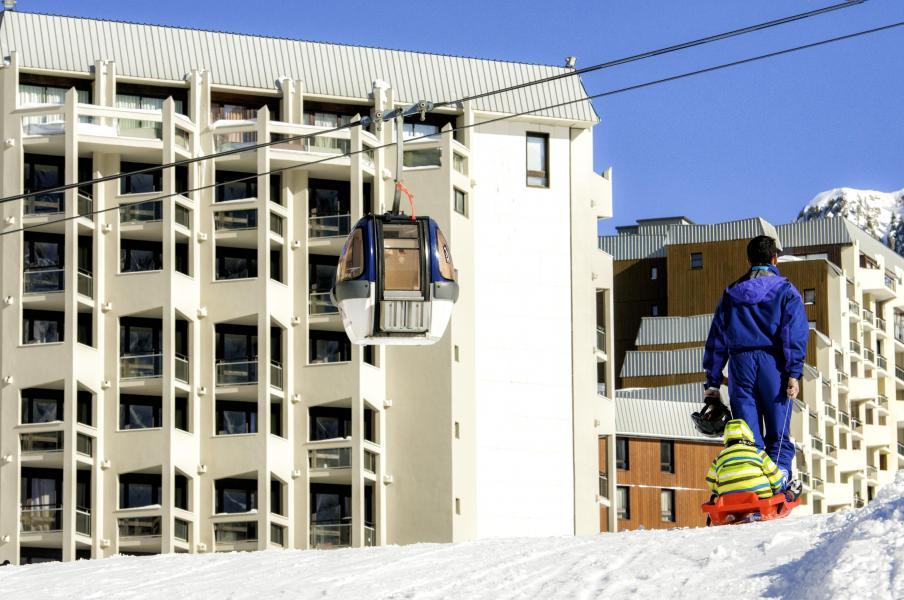Location au ski Hotel Club Du Soleil Pas Du Loup - Isola 2000 - Extérieur hiver