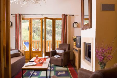 Location au ski Les Chalets du Diva - Isola 2000 - Coin séjour
