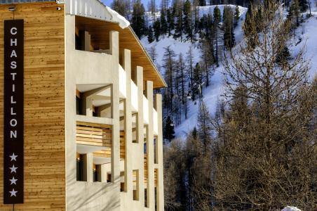 Vacances en montagne Résidence le New Chastillon - Isola 2000 - Extérieur hiver