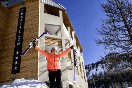 Location au ski Résidence le New Chastillon - Isola 2000 - Extérieur hiver