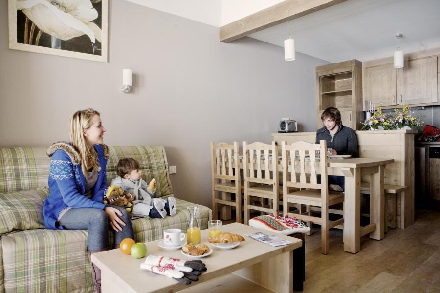 Skiverleih Résidence les Grandes Feignes - La Bresse - Kleines Wohnzimmer