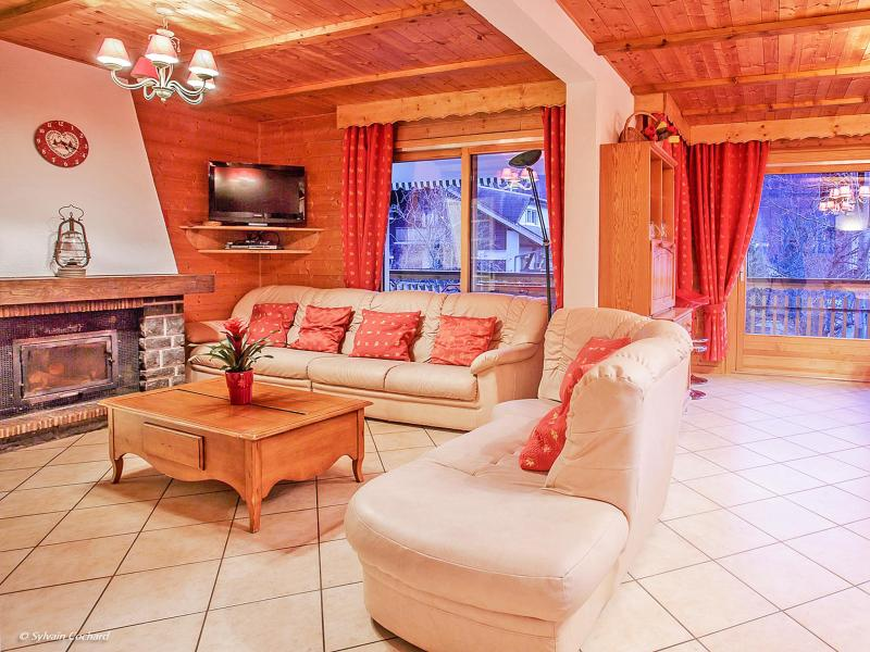Rent in ski resort Chalet de la Chapelle - La Chapelle d'Abondance - Fireplace