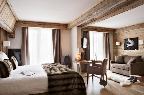 Location au ski Suite Junior - Hotel Au Coeur Du Village - La Clusaz - Chambre