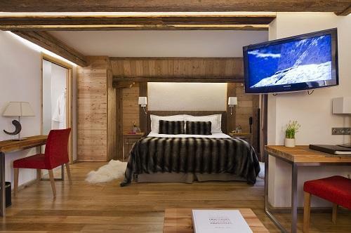 Rent in ski resort Junior Suite (2 people) - Hôtel Au Coeur du Village - La Clusaz - Bedroom
