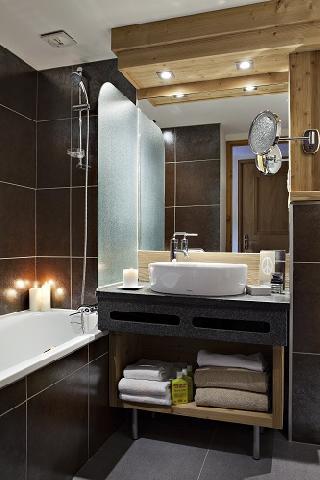 Location au ski Hotel Beauregard - La Clusaz - Salle de bains