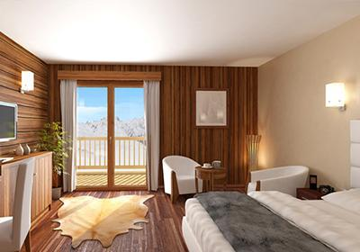 Location 2 personnes Chambre 2 personnes - Hotel Le Chamois