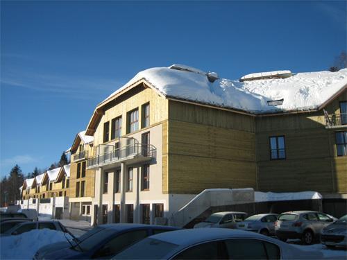 Rent in ski resort Residence Les Balcons D'aix - La Féclaz - Winter outside