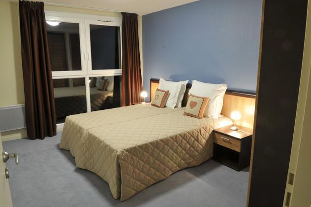 Rent in ski resort Residence Les Balcons D'aix - La Féclaz - Bedroom