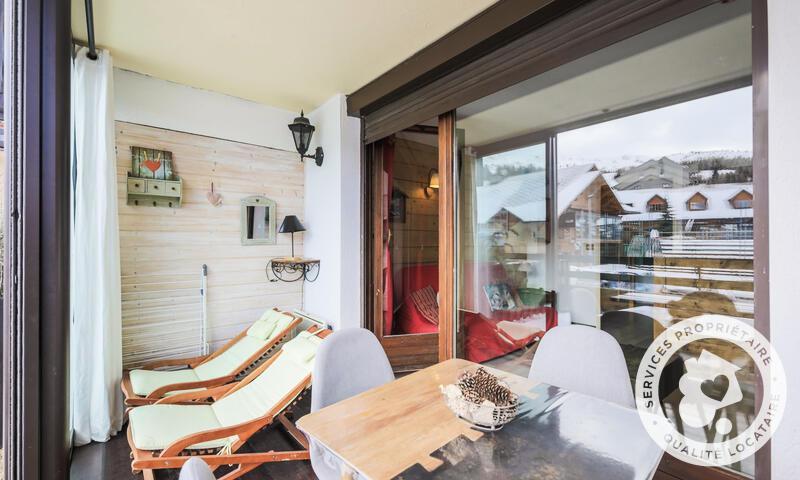 Wakacje w górach Studio 5 osób (Confort 25m²) - Résidence les Terrasses du Dévoluy - Maeva Home - La Joue du Loup - Zima na zewnątrz