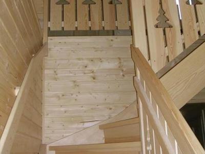 Location au ski Chalets Hameau Des Cimes - La Joue du Loup - Escalier