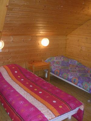 Location au ski Chalet 6 pièces 12 personnes - Les Chalets Du Prayau - La Joue du Loup - Chambre mansardée