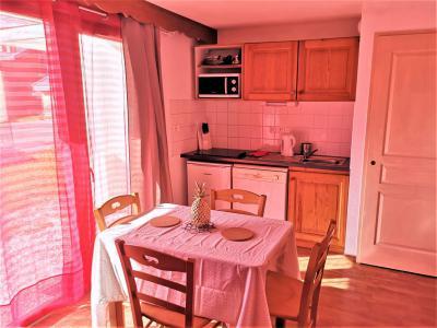 Аренда на лыжном курорте Квартира студия со спальней для 4 чел. (402) - Résidence Crête du Berger - La Joue du Loup - Столова&