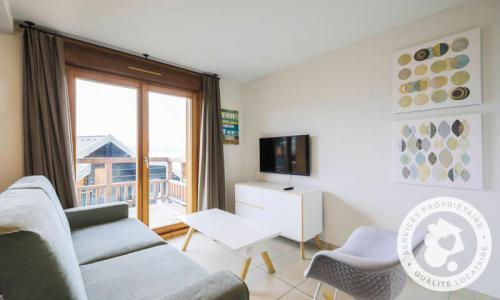 Аренда на лыжном курорте Квартира студия для 4 чел. (Sélection -2) - Résidence les Mélèzes - Maeva Home - La Joue du Loup - зимой под открытым небом