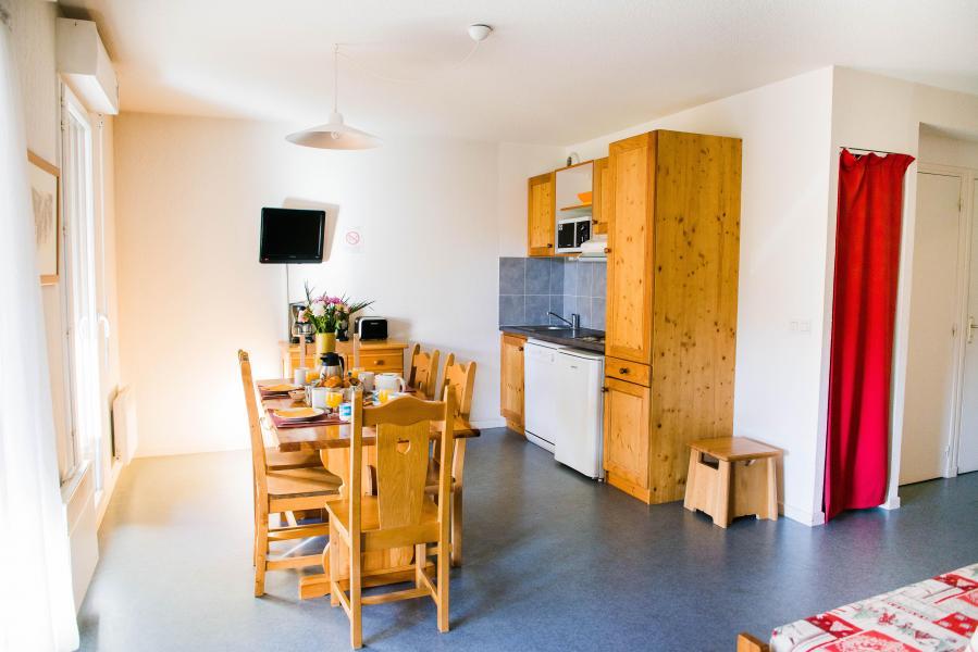 Alquiler al esquí Résidence Plein Soleil - La Norma - Cocina abierta