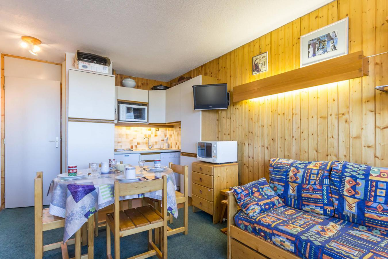 Location au ski Studio 4 personnes (21) - La Residence Aollets - La Plagne - Canapé