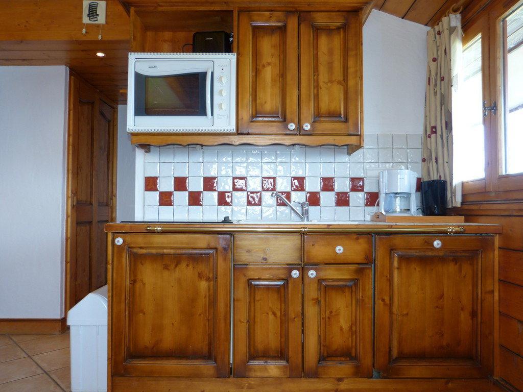 Location au ski Studio 2 personnes (B63) - La Residence Les Hauts Bois - La Plagne - Kitchenette