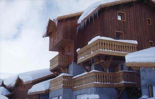 Location au ski Appartement 2 pièces 6 personnes (BCF) - Les Lodges Des Alpages - La Plagne - Extérieur hiver