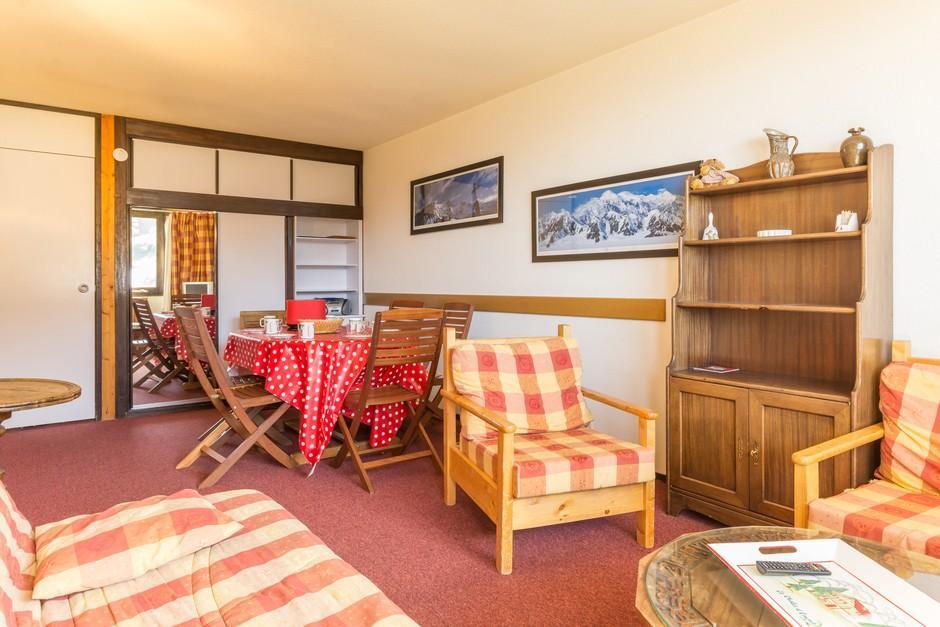 Location au ski Appartement 2 pièces cabine 8 personnes (A2055) - Residence Aime 2000 - Le Diamant - La Plagne - Séjour