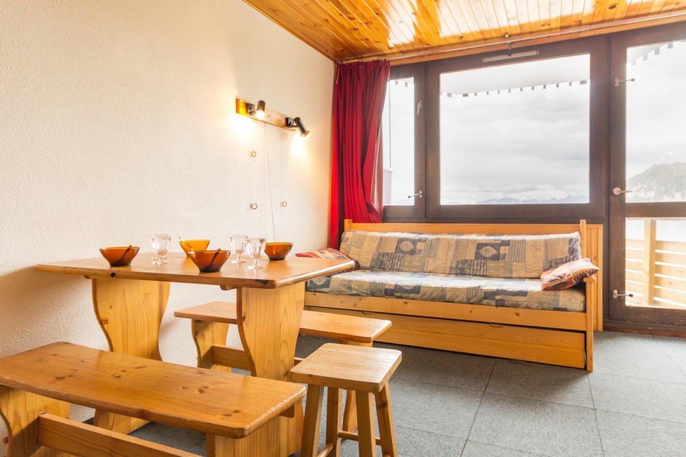 Location au ski Studio 4 personnes (A2L143) - Residence Aime 2000 - Le Diamant - La Plagne - Séjour