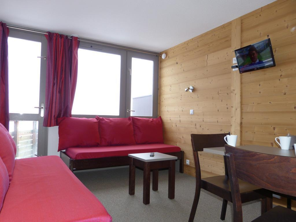 Location au ski Studio cabine 4 personnes (A2Q156) - Residence Aime 2000 - Le Diamant - La Plagne - Banquette