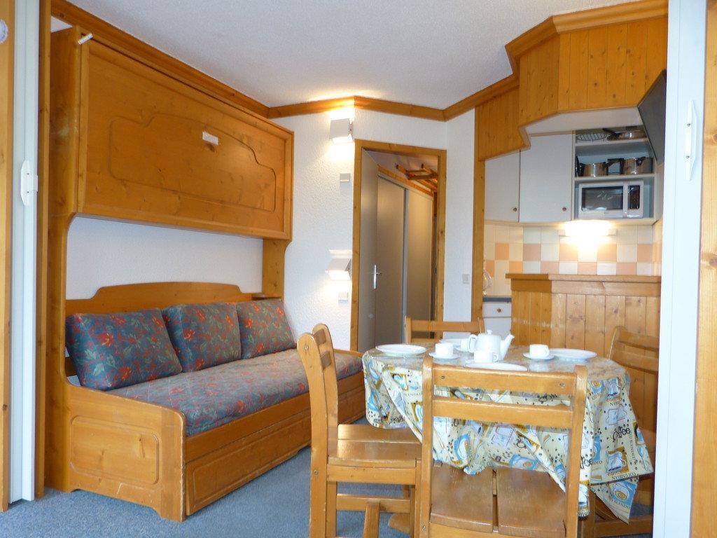 Location au ski Studio divisible 4 personnes (A2H55) - Residence Aime 2000 - Le Diamant - La Plagne - Coin repas