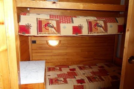 Location au ski Studio cabine 4 personnes (14) - Residence Carroley B - La Plagne - Lits superposés