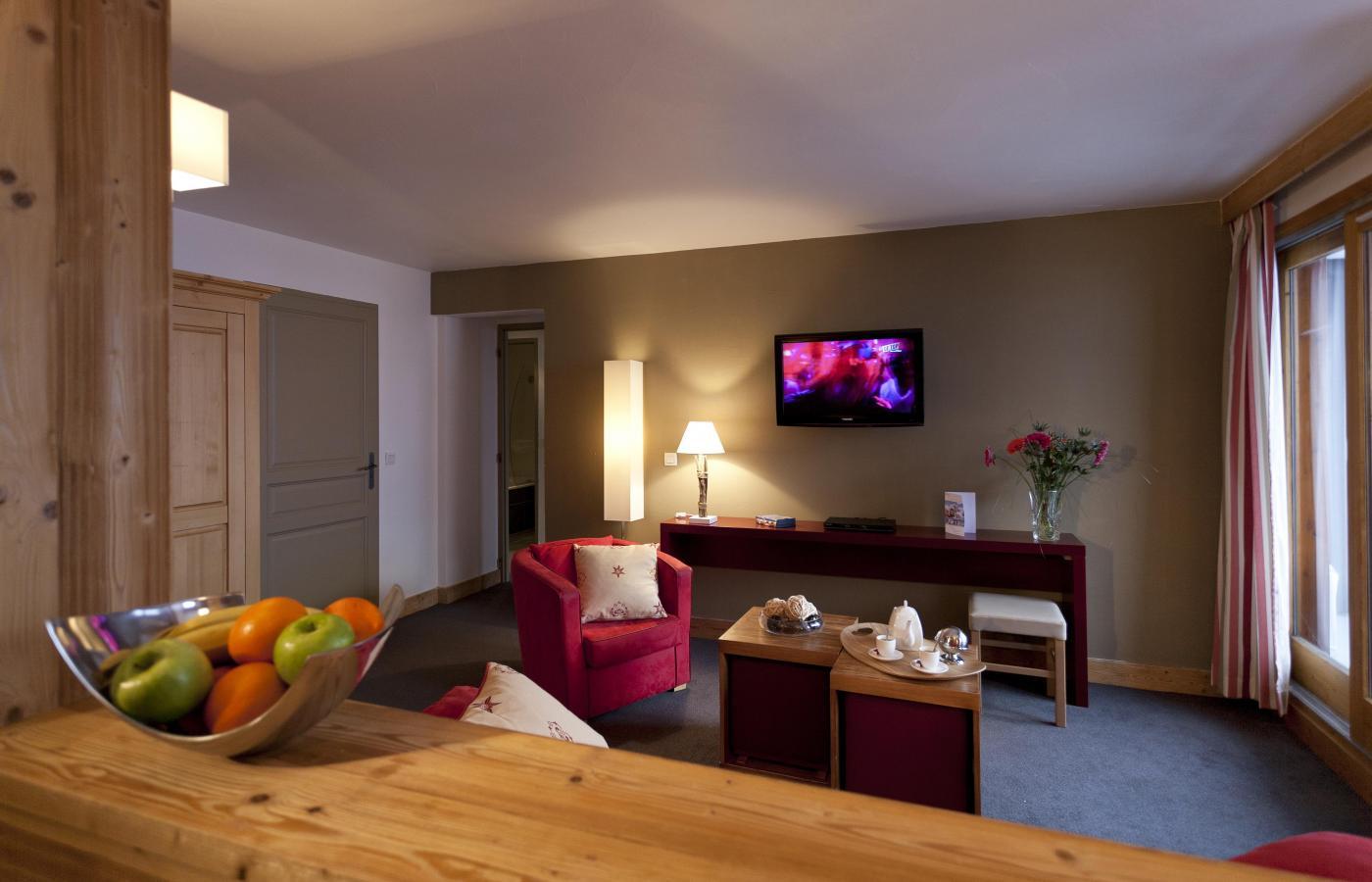 Location au ski Residence Club Mmv Le Centaure - La Plagne - Tv à écran plat