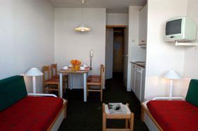 Location au ski Studio cabine 4 personnes - Residence La Licorne - La Plagne - Séjour