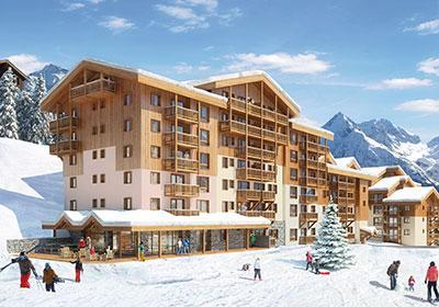 Accommodation with swmimming pool Residence Prestige Front De Neige