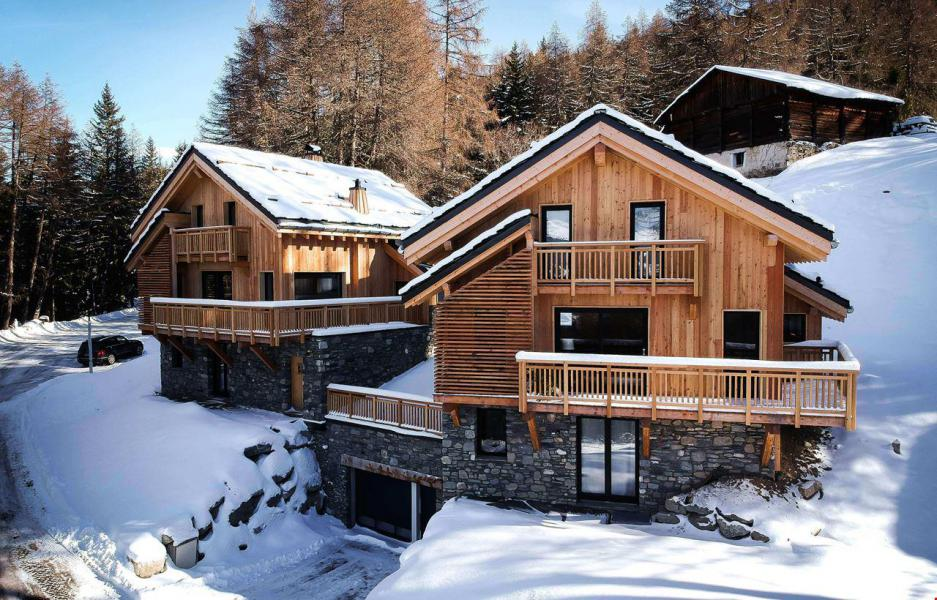 Skiverleih Chalet Natural Lodge - La Plagne - Draußen im Winter