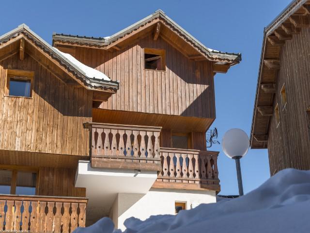 Location au ski Chalet 6 pièces 10 personnes (10) - Chalets des Alpages - La Plagne - Extérieur hiver
