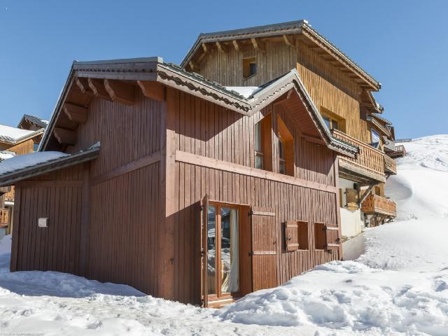 Rent in ski resort 5 room chalet 8 people (3) - Chalets des Alpages - La Plagne - Winter outside