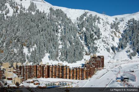 Аренда на лыжном курорте La Résidence les Glaciers - La Plagne - зимой под открытым небом