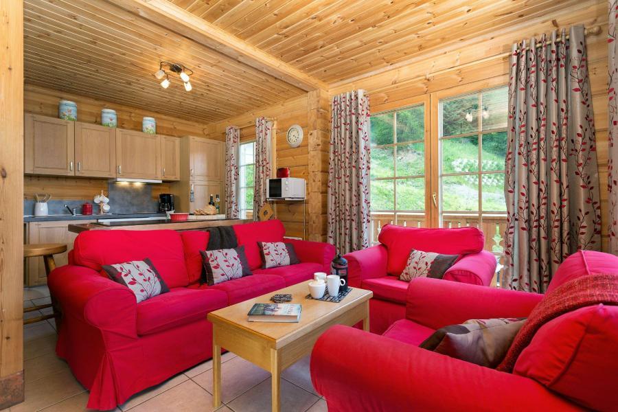 Location au ski Les Chalets de Crête Côte Village - La Plagne - Coin séjour
