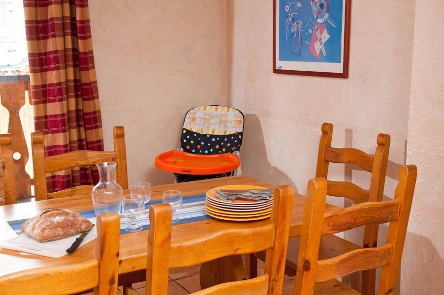 Alquiler al esquí Les Lodges des Alpages - La Plagne - Comedor