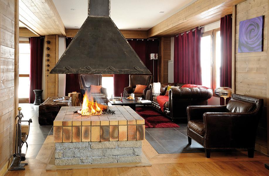 Alquiler al esquí Résidence Lagrange les Chalets d'Edelweiss - La Plagne - Chimenea