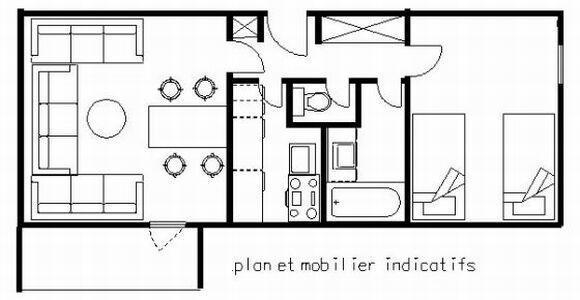Аренда на лыжном курорте Апартаменты 2 комнат 5 чел. (61) - Résidence le Carroley A - La Plagne - Кухня